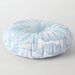 Shell Ya Later - Turquoise Seashell Pattern Floor Pillow