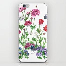 Poppys&Blue Wren iPhone Skin