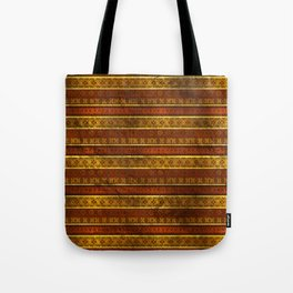 African Ethnic Tribal Pattern in golds and brown Tote Bag