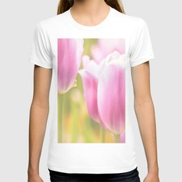 Spring is here with wonderful  colors - close-up of tulips flowers T-shirt