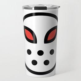 Smiley Face   Hockey Mask Travel Mug