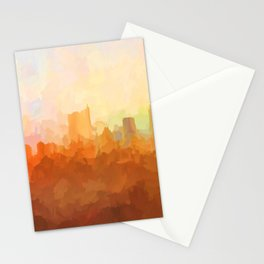 Austin, Texas Skyline - In the Clouds Stationery Cards