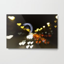 Love Along the Champs Elysees Metal Print