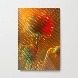 Floral Honeycomb Sunshine Metal Print