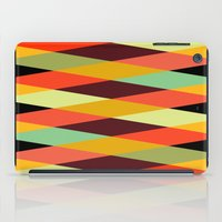 diamonds iPad Cases featuring multicolor diamond pattern by Gary Andrew Clarke