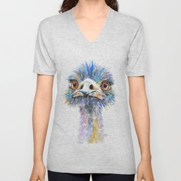 Emu bird Unisex V-Neck