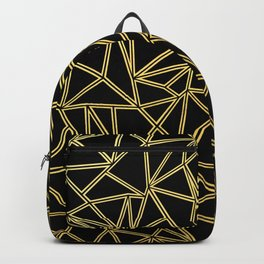Abstract Blocks Gold Backpack