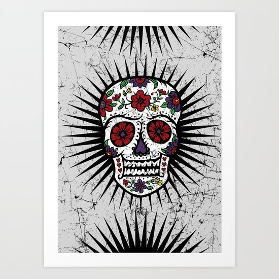 Sugar Skull Star Art Print
