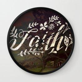 Faith Meadow Wall Clock