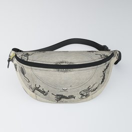 Engraving: The Twelve Signs of the Zodiac, with other Astronomical Charts Fanny Pack