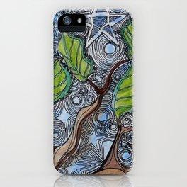 cosmic tree iPhone Case