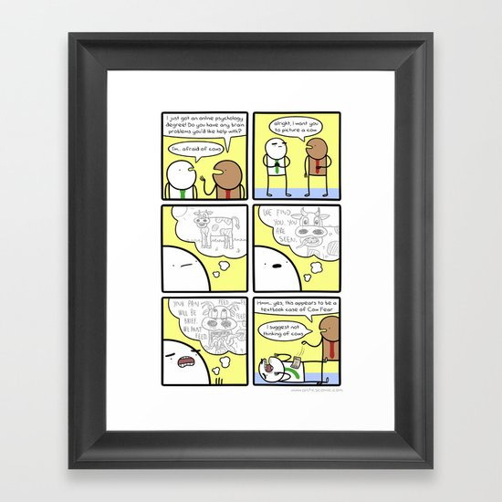 Antics #283 - entirely rational Framed Art Print