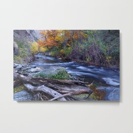 Mountain river. After raining. Night photography. Metal Print