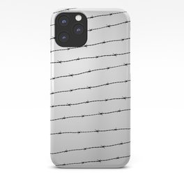 Cool gray white and black barbed wire pattern iPhone Case