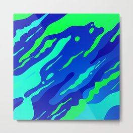 Green and blues Abstract camouflage for modern home decoration Metal Print