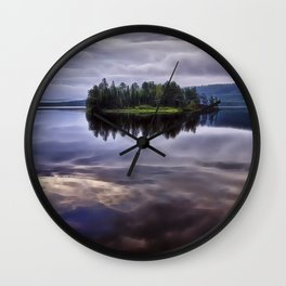 Lake of Two Rivers Wall Clock