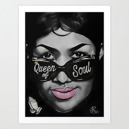 Queen of Soul Art Print