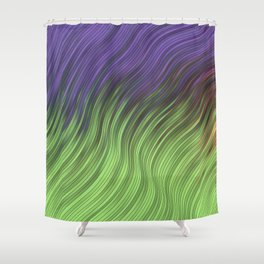 stripes wave pattern 2 with lines vcli Shower Curtain