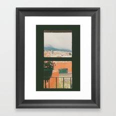 Through my window Framed Art Print