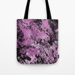 Abstract Texture Deux - Purple, White and Black Tote Bag