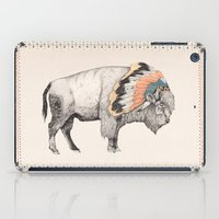 hug iPad Cases featuring White Bison by Sandra Dieckmann