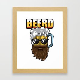 Beerd - Beer And Beard - Brewer Hipster Framed Art Print