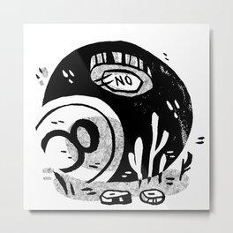 8-Ball Metal Print