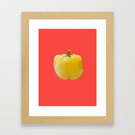 Yellow bell pepper Framed Art Print