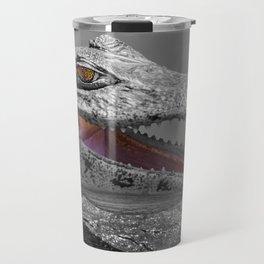 The smiling crocodile and the flies Travel Mug