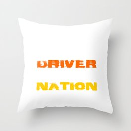 a bus driver drives the future of the nation Throw Pillow