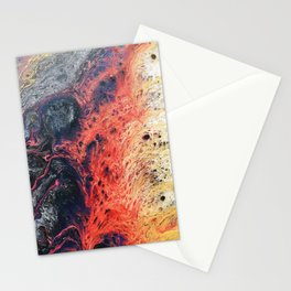 Vivid Crawling Nova Acrylic Pour Stationery Cards