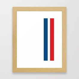 McQueen – Red and Blue Stripes Framed Art Print