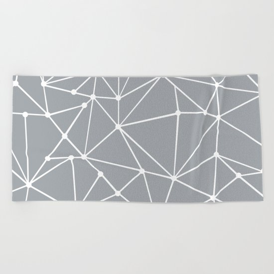 Ab Out Spots Grey Beach Towel