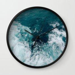 Ocean Waves (Teal) Wall Clock