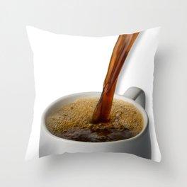 Coffee Pour Throw Pillow