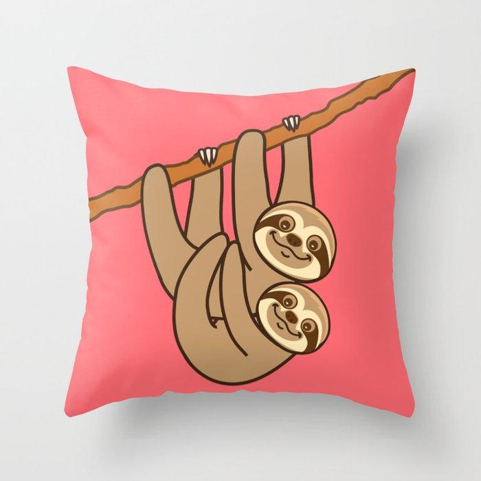 Cute Sloth!! Throw Pillow