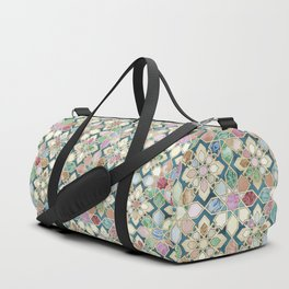 Muted Moroccan Mosaic Tiles Duffle Bag