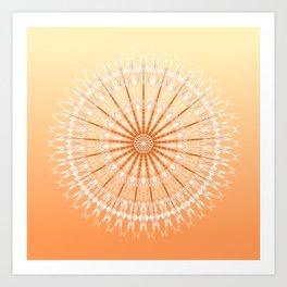 Orange Yellow Mandala Art Print