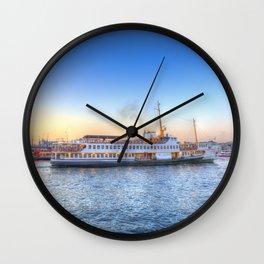 Pleasure Cruise Boat Istanbul Wall Clock