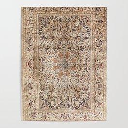 Silk Esfahan Persian Carpet Print Poster