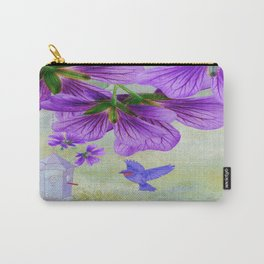 Purple Cranesbill Carry-All Pouch