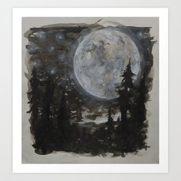 Moon 01 Art Print