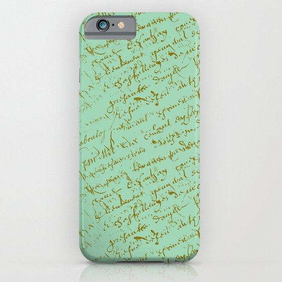 Pistachio French Script iPhone & iPod Case