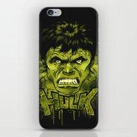 hulk iPhone & iPod Skins featuring HULK by dan elijah g. fajardo