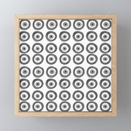 Evil Eye Amulet Talisman Black White Gray on white Framed Mini Art Print