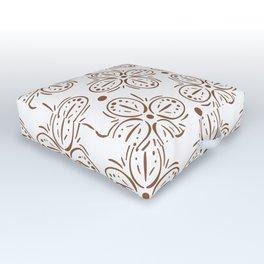 Brown Batik Pattern Comforters Outdoor Floor Cushion