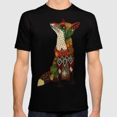 fox love Black MEDIUM Mens Fitted Tee