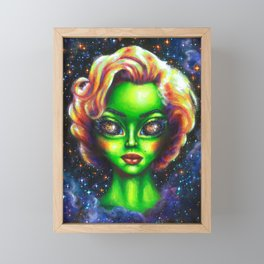 Iconic Alien Women: Marilyn Framed Mini Art Print