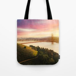 Golden Gate Bridge | San Francisco California Landscape Sunset Travel Photography Tote Bag