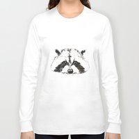 racoon Long Sleeve T-shirts featuring racoon by eclecticliving